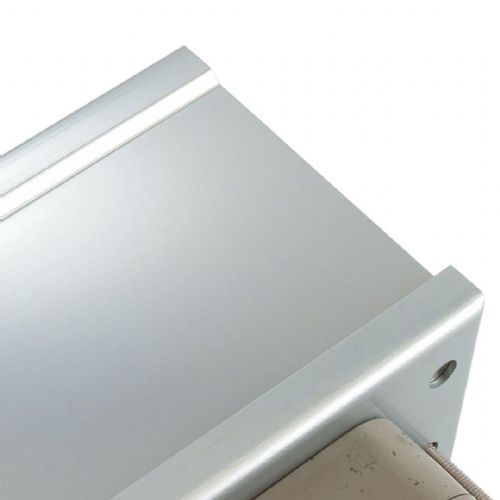 Intumescent Fire & Smoke Rated Telescopic Letter Box System 12 inch Satin Anodised Aluminium